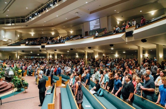 Scenes from Galin Campbell's celebration of life ceremony Sunday, June 9, 2019, at Ridgecrest Baptist Church.