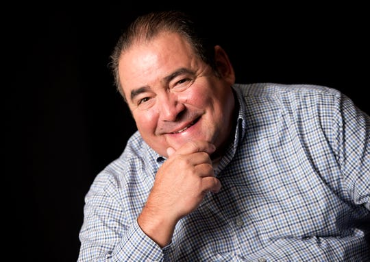In this Aug. 23, 2016 photo, Emeril Lagasse poses for a portrait in promotion of his television show 'Eat the World' in New York.