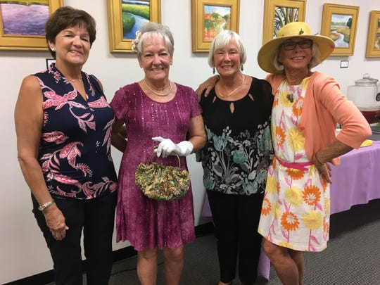 Patty Yacovella, left, Mary Nolan, Kathy Langelier and Suzy Stoeckel at the 2019 Volunteer Appreciation Afternoon Tea for Friends After Diagnosis in Vero Beach.