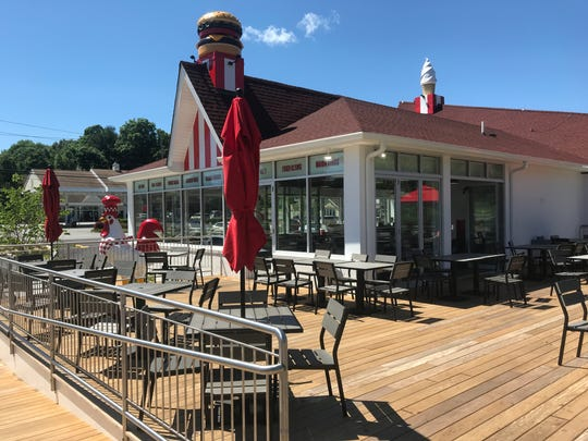 A new outdoor deck has been added to the Red Rooster in Brewster.