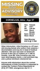The alert sent for Alita Cornelius.