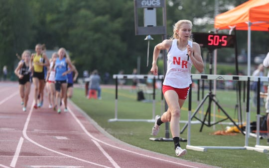 North Rockland's Katelyn Tuohy wins the 3000-meter run with a 9:27.57 time during day 2 of the Section 1 state Track & Field qualifier  at White Plains High School in White Plains on Saturday, June 1, 2019.