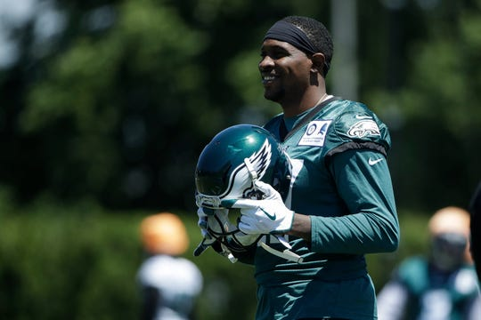 Eagles wide receiver Alshon Jeffery at the team's practice facility in Philadelphia, Monday, June 10.