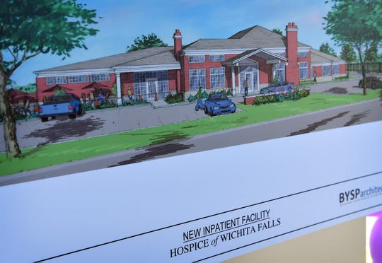An artist's rendering of the new inpatient care center for Hospice of Wichita Falls. A groundbreaking ceremony Tuesday morning is moving the project forward after a two-year capital campaign surpassed the goal of $15 million.
