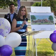 Hospice of Wichita Falls CEO Alisa Echols talks about the new, 24-bed inpatient center which reached its fundraising goal of $15 million and ground was broken on the project Tuesday morning.
