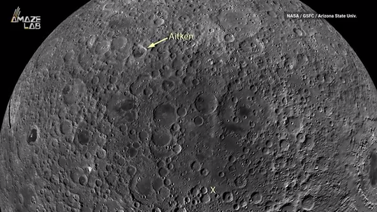 The moon's largest crater is hiding something huge, but astronomers aren't quite sure what