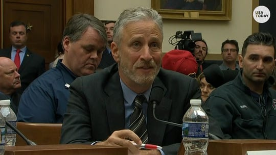 Jon Stewart testifies before the House Judiciary Committee at a hearing on reauthorizing the September 11th Victim Compensation Fund.