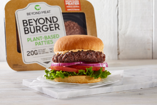 Beyond burgers, the company also makes meatless tacos and sausages.