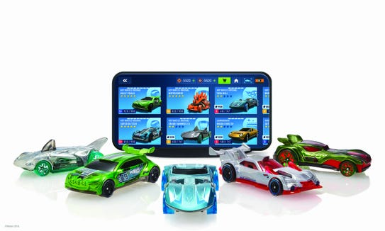 Mattel's new Hot Wheels id toys are updated to work with a videogame