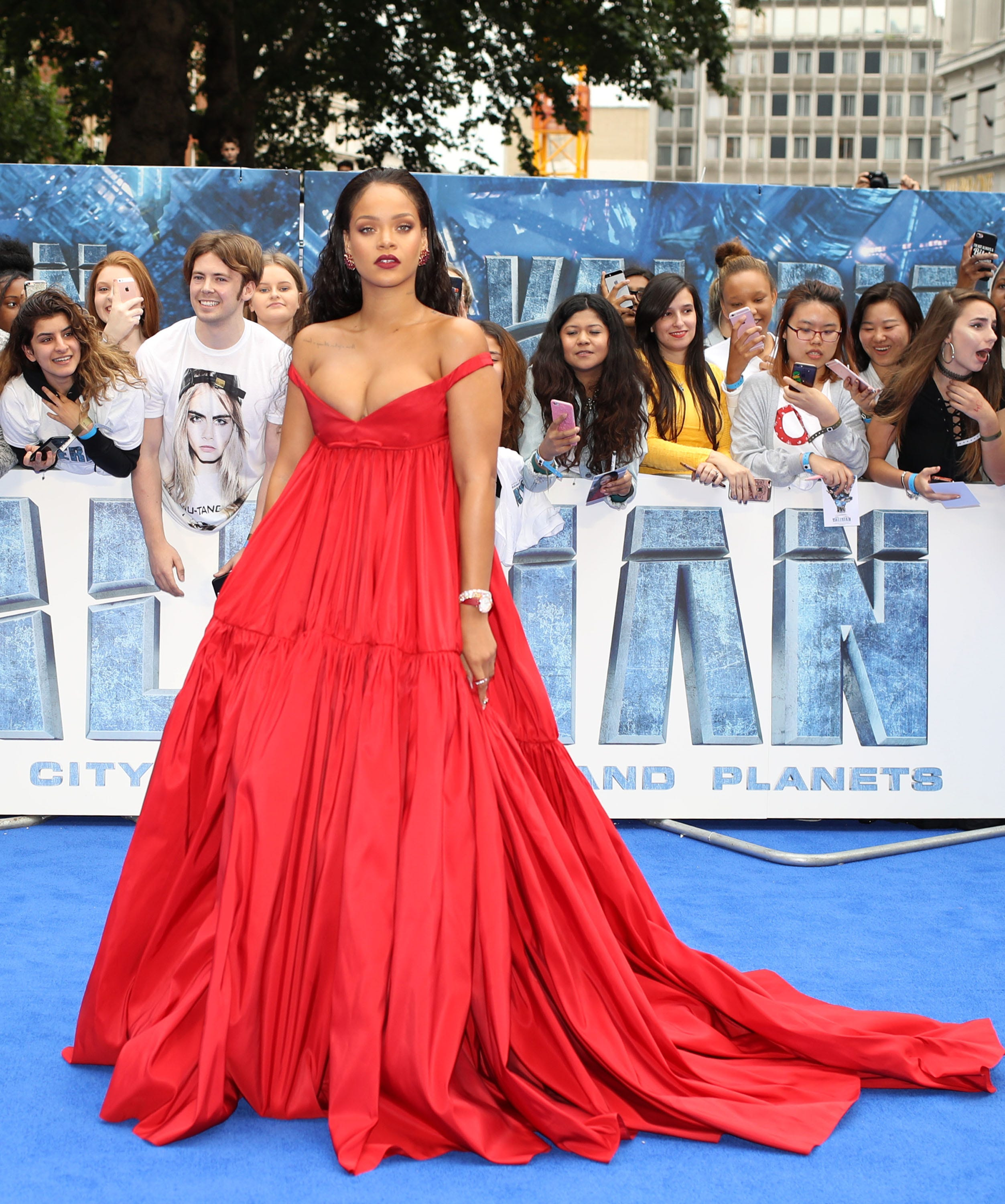 98df8862730f0 Red hot! Celebrities' best red dress looks from Rihanna, Selena Gomez and  more