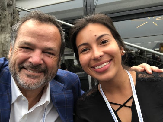 USA TODAY small business columnist Steve Strauss gets a selfie with Daniela Arias Rivera at the Global Entrepreneurs Summit in the Netherlands in June. Could eating bugs change the world? Rivera and Alejandro Ortega of the Costa Rican Insect Company are raising crickets and other bugs to create healthy, sustainable food products.
