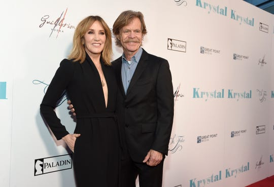 Felicity Huffman and William H. Macy, seen here in 2018, were on hand when their daughter Sophia Grace graduated from high school June 11.