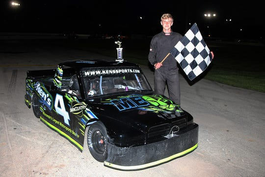 Cody Vander Loop, 15, has been a quick study in the Wisconsin Sport Truck class. The teen snagged a pair of back-to-back feature wins at Wisconsin International Raceway in Kaukauna and at Norway (Mich.) Speedway last week.