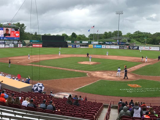 Neuroscience Group Field at Fox Cities Stadium in Grand Chute is hosting the annual WIAA state baseball tournament.
