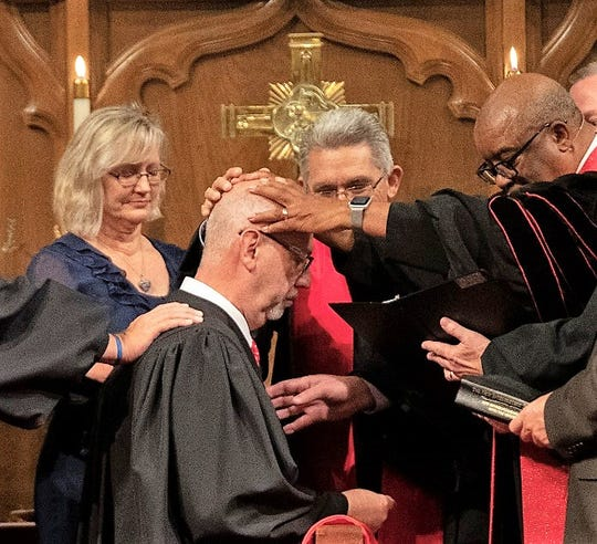 The ordination of Jeff Hatcher.