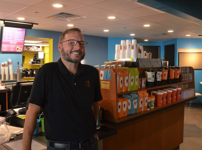 Matthew Lemmer, owner of the Columbia Avenue Biggby Coffee, plans to open a new Biggby Coffee location at McCamly Place on June 18.