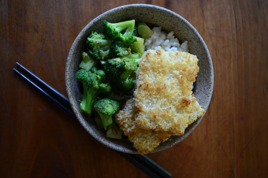 Salty broccoli and crispy tofu is an easy weeknight meal.