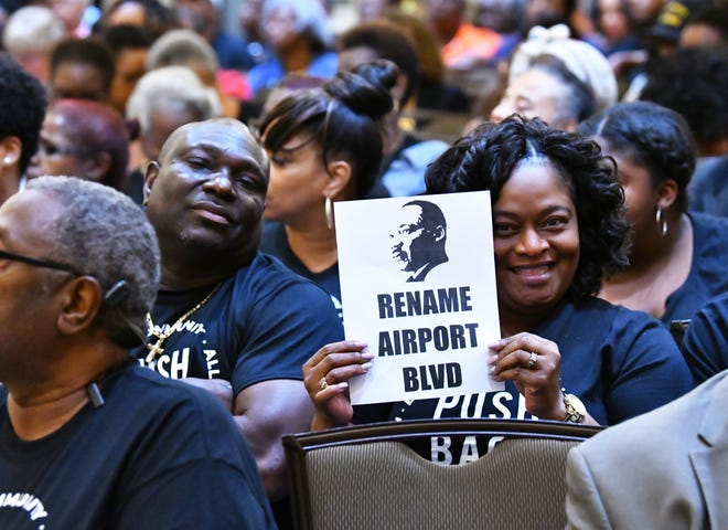 A standing-room-only crowd of 500 people attended a June 11 Melbourne City Council meeting during which council members voted on renaming Airport Boulevard after Dr. Martin Luther King Jr.