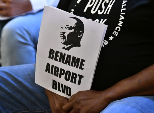 It was standing room only with 500 people who showed up at the Hilton Melbourne Rialto Place for the Melbourne City Council meeting Tuesday night on renaming Airport Blvd after Dr. Martin Luther King Jr.