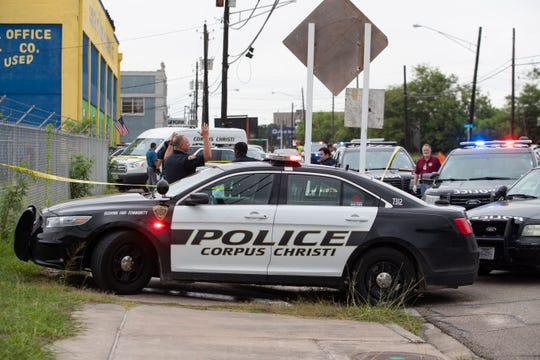Police investigate a body found in the 2000 block of Leopard Street around 6:30am on Wednesday, June 12, 2019.