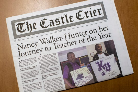 A copy of the Castle Crier at Camden High School at Hatch in Camden, N.J. on Tuesday, June 11, 2019.