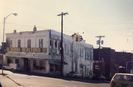 A photo of the Dabbs building in the 1970's, when it was in use as the Dabbs Realtors office.