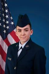 U.S. Air Force Airman Adrianne Eckhardt graduated from basic military training at Joint Base San Antonio-Lackland, San Antonio, Texas.