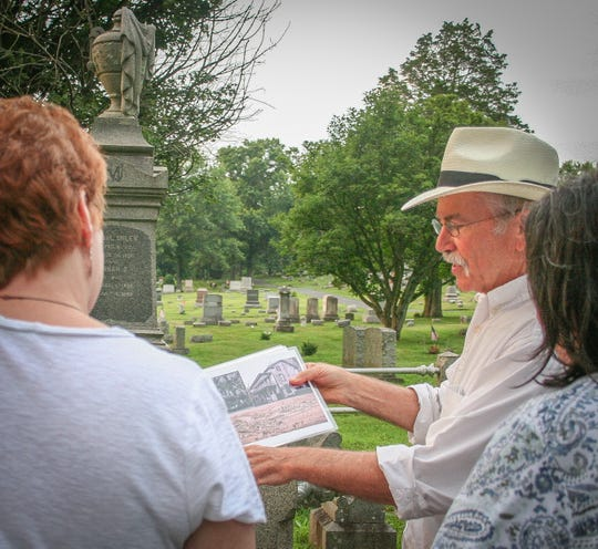 Rick Epstein's historical walking tours of Frenchtown are now in their fourth season. His June 30 cemetery tour will benefit the Del Val Hall of Fame for the Arts.