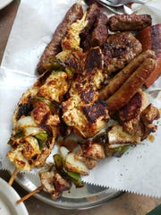 The small mixed meat platter from Balkan House in Hamtramck.