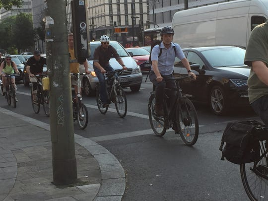 Bike commuting is common in Berlin, Germany, as seen here in this June 2019 photo by John Gallagher.
