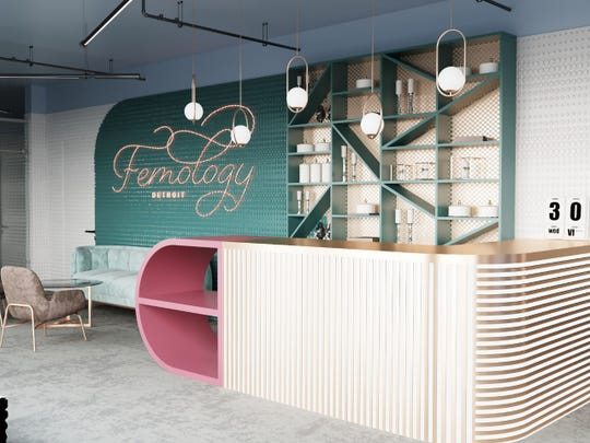 A plan for Femology's new women-only co-working space, set  to open fall 2019.
