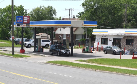 Nassif Sami Daher worked at this gas station on Van Dyke on Detroit's east side.