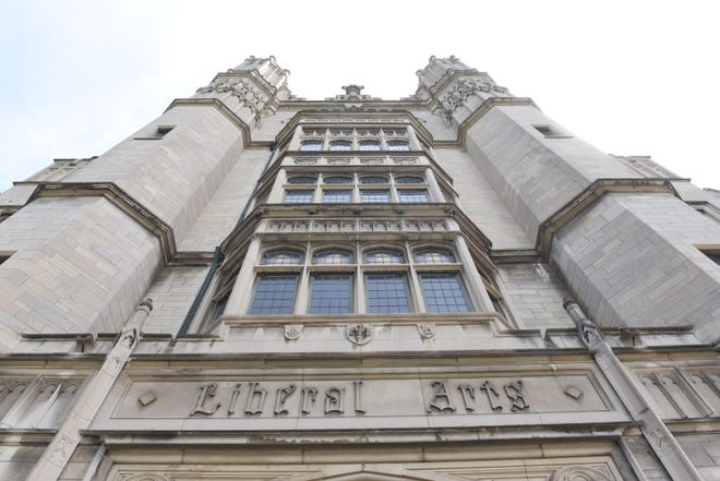 The Liberal Arts building is the centerpiece of the Marygrove College campus in Detroit.  Elizabeth Burns, president of Marygrove College, announced the closure of the college in Detroit on Wednesday.