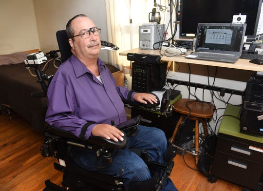 Brian Woodward was 24 when he broke his neck in an auto accident and became a quadriplegic.