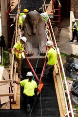 The 3,000-year-old sphinx is being relocated from the Egypt Gallery where it's resided since 1926 to a featured location in the museum's new entrance hall.