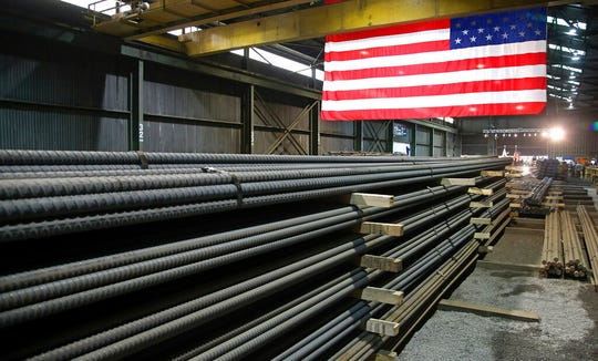 In this May 9, 2019, photo, steel rods produced at the Gerdau Ameristeel mill in St. Paul, Minn. await shipment. Last week's flareup over the Mexico tariffs may prove to be a pivotal juncture. The spat was especially alarming to businesses because it came seemingly out of nowhere. Less than two weeks earlier, President Donald Trump had lifted tariffs on Mexican and Canadian steel and aluminum, action that seemed to signal warmer commercial ties between the United States and its neighbors.