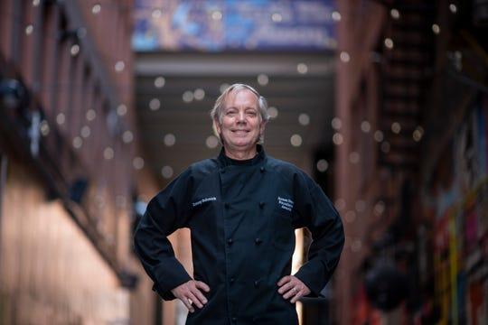 Jimmy Schmidt, owner of Lucky Noble BBQ, at The Belt alleyway, in Detroit, June 12, 2019.