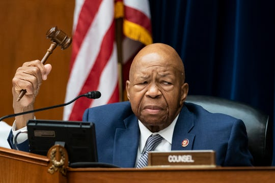 House Oversight and Reform Committee Chairman Elijah E. Cummings, D-Md., considers whether to hold Attorney General William Barr and Commerce Secretary Wilbur Ross in contempt for failing to turn over subpoenaed documents related to the Trump administration's decision to add a citizenship question to the 2020 census, on Capitol Hill in Washington, Wednesday, June 12, 2019.