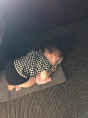 Burkett, vice president & COO of Economic Development Coalition of Southwest Indiana had a big day in the office and discovered her one-year-old Faye was sick, and couldn't attend daycare.