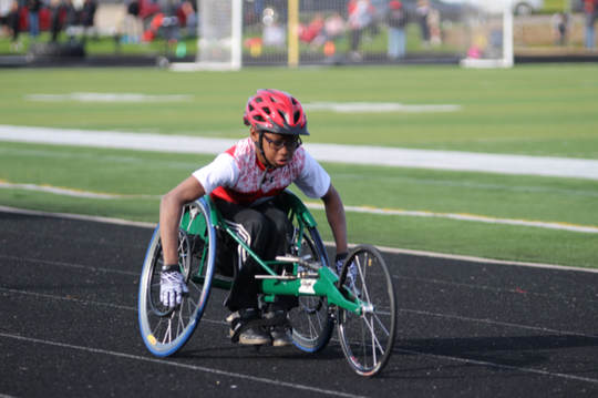 Jaylen Goodman hopes to participate in more wheelchair events during his sophomore season.