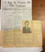 A newspaper article from a 1940s English weekly told the story of Otto and Elfriede Braun's escape from Austria and Nazi aggression.