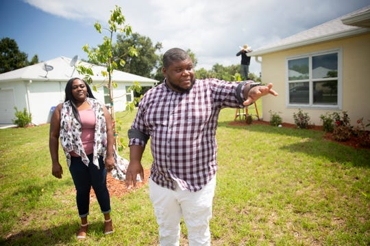 Gregory and Kortney Cosby talk about their new home during an interview, Wednesday June 12, 2019, in Fort Myers.