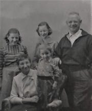 Braun family portrait, mid-1950s.
