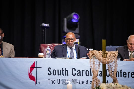 Bishop L. Jonathan Holston of the South Carolina Conference of the United Methodist Church during last week's state convention in Greenville.