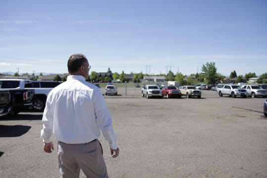 Jim Taylor Jr. showing the expansion of the sales lot and operations.