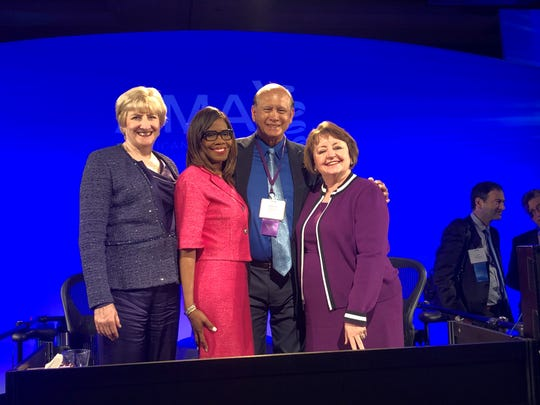 The American Medical Association annual meeting was held June 7-12 in at Chicago and Patrice A. Harris, MD, MA was inaugurated as the 174th AMA President for 2019-2020. This is the first time in AMA history that the AMA president, past-president and president-elect are all women. Dr. John Taitano, past-president of the Guam Medical Society was the delegate sent to the AMA this year by the Guam Medical Society and voted in the House of Delegates of the AMA. From left: Barbara L. McAneny, MD, past-president AMA, Patrice A. Harris, MD, MA, 174th president of the AMA 2019-2020, John Ray Taitano, MD, MSS, FACP, past- president Guam Medical Society, and Sue Bailey, MD, president-elect, American Medical Association.