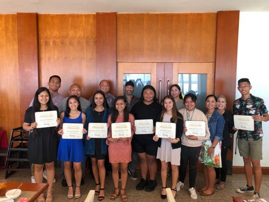 Twelve students from Guam Department of Education high schools were awarded the Moda Ginos Partners-In-Education Scholarship in June 2019.