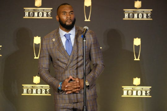 Darius Leonard won the award for AP defensive rookie of the year.