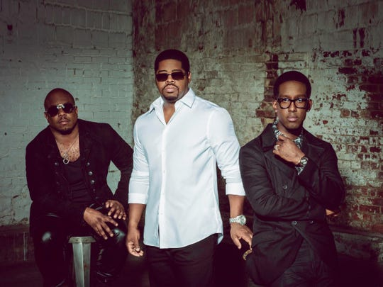 Boyz II Men (from left, Wanya Morris, Nathan Morris and Shawn Stockman) will perform Aug. 14 at the Indiana State Fair.