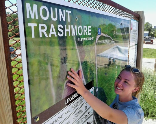 As a student of environment-related projects, Emma Nelson's summer internship at Mount Trashmore in Cedar Rapids is a good fit.